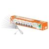 Гирлянда LED Сосульки (падающий голубой свет, 3.8х0.3 м, прозрачный шнур 8 лампочек) TDM ЕLECTRIC