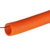 Труба гофрированная ПНД 25 мм с зондом 1 м оранжевая ДКС 71925