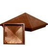Колпак на столб 185х440х440 мм полимерно-песчаный темный шоколад