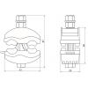 Зажим ответвительный ЗГОП 16-95/1.5-10 мм TDM ЕLECTRIC (SQ0412-1001)