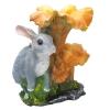 Фигура садовая Гриб-лисичка с зайчиком 38 см