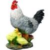 Фигура садовая Курица с цыплятами 30 см