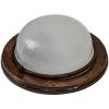 Светильник НБО 03-60-021 КАНТРИ d220 мм орех круг 60 Вт