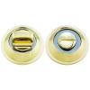 Ручка поворотная A54-BK PB/CP (золото/хром) MARLOK