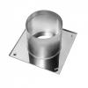 Потолочно-проходной узел (нерж. сталь, 0.5 мм) d-150 мм