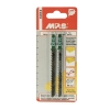 Пилки для электролобзика 100х75 мм по дереву и пластику MPS 3103-2 (2 шт)
