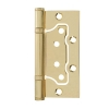Петля дверная без врезки 100х75х2 мм skfuma (золото)