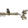 Карниз кованный раздвижной 1-ряд Legrand d-16/19 мм 1.6-3 м лист антик-золотой