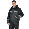 Куртка утепленная Гастарбайтер-3 т.-серая с черн. и лимон кантом с СОП размер 56-58 рост 182-188