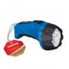 Фонарь аккумуляторный 4LED с вилкой РМ-0104 Blue РЕКОРД
