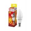 Лампа светодиодная VC C37 8 Вт E14 свеча 3000 K теплый свет IN HOME