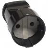 Розетка кабельная черная (10 А) UNIVersal А0115