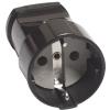 Розетка кабельная черная (16 А, с з/к) UNIVersal А1020