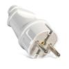 Вилка кабельная белая (16 А, с з/к) UNIVersal А101