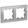 Рамка 2-м алюминий Schneider Electric ATLAS DESIGN