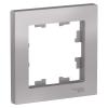 Рамка 1-м алюминий Schneider Electric ATLAS DESIGN
