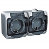 Блок розеточный ОП серый 2-м розетка с з/к з/ш IP44 Schneider Electric Этюд