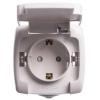 Розетка 1-м ОП белая 16 А, с з/к, с крышкой, з/ш, IP44 Schneider Electric Рондо