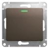 Механизм выключателя 1-кл. СП Glossa 10А IP20 (сх. 1а) 10AX с подсветкой шоколад. SchE GSL000813