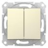 Механизм выключателя 2-кл. СП Sedna 10А IP20 (сх. 5) 250В беж. SchE SDN0300147