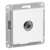Механизм TV розетки 1-м проходной СУ белый Schneider Electric ATLAS DESIGN