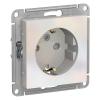 Механизм розеточный 1-м СУ жемчуг 16 А, с з/к, з/ш Schneider Electric ATLAS DESIGN