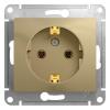 Механизм розеточный 1-м СУ титан 16 А, с з/к Schneider Electric GLOSSA