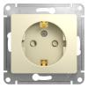Механизм розеточный 1-м СУ бежевый 16 А, с з/к, з/ш Schneider Electric GLOSSA
