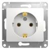 Механизм розеточный 1-м СУ белый 16 А, с з/к Schneider Electric GLOSSA
