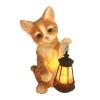 Светильник садовый на солнечной батарее 543 Котенок с фонарем Чудесный сад