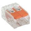 Клемма строительно-монтажная СМК 223-412 на 2 провода 0.2-4 мм² (4 шт) IEK