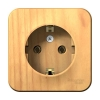 Розетка 1-м ОП ясень 16 А, с з/к, с изол. пласт. Schneider Electric BLANCA