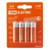 Элемент питания LR6 АА Alkaline 1.5 В BP-4 (4 шт) TDM ЕLECTRIC