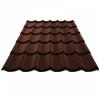 Металлочерепица 0.4х1180х2250 мм шоколадно-коричневая (RAL 8017)