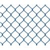 Сетка рабица оцинкованная с полимерным покрытием 55х55 мм d-2.7 мм 1.5х10 м синяя