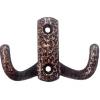Крючок-вешалка 2-х рожковый №10 Металлист (антик медь)