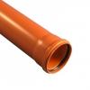 Труба для наружной канализации 110х3,2х1000мм оранжевая