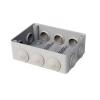 Коробка распределительная (распаячная) ОП 150х110х70 мм серая RuVinil 67053