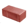Плитка тротуарная Брусчатка 60х100х200 мм красная