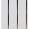 Панель ПВХ 240х3000 мм Софитто парча белая 3 полосы серебро выпуклая Центурион