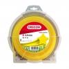 Леска (корд) для триммера (3 мм, 71 м, звезда) OREGON Yellow 69-460-Y