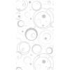 Панель ПВХ 250х2700 мм Wallquest & Multiline №229/4 ротондо серебряный Центурион