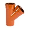 Тройник для наружной канализации 110х110 мм угол 45°