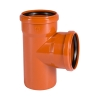 Тройник для наружной канализации 110х110 мм угол 87°(90°)