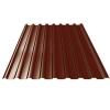 Профнастил С21 0.35 мм 1050х2000 мм шоколадно-коричневый (RAL 8017)