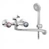 Смеситель для ванны Классика ЦС-СМ 600/5-4 К М маховик Примула плоский излив 350 мм