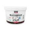 Краска фасадная VGT ВД-АК-1180 белоснежная 3 кг