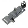 Задвижка дверная ЗД-04 плоский засов, с проушиной, серебро Металлист