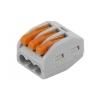 Клемма строительно-монтажная СМК 413 на 3 провода 0.08-2.5 мм² (2 шт) ЭРА