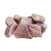 Камни для бань и саун Малиновый кварцит обвалованный 20 кг